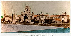 Liège International (1905) - Principal façade of the Liège Universal Exposition of 1905