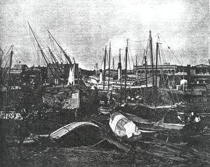1906 Mississippi hurricane - Image: 1906 Pensacola Hurricane Damage