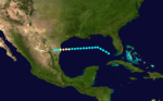 1909 Atlantic hurricane 2 track.png