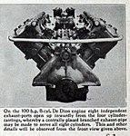 1909 De Dion-Bouton 100 HP V-8 cylinder engine, front view.jpg