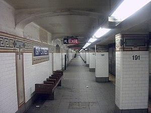 191st Street IRT Broadway Seventh Avenue Line