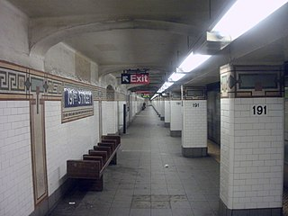 191st Street station New York City Subway station in Manhattan