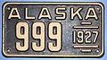 1927 Alaska license plate 999.jpg
