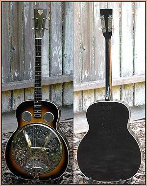 "Dobro - 1928 ""Dobro-style"" 37 tenor guitar."