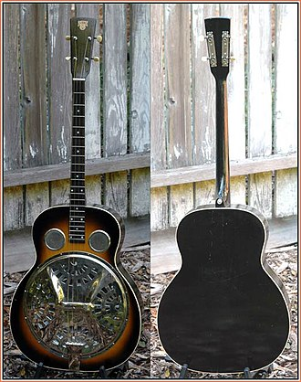 Tenor guitar - 1928 Dobro style 37 tenor guitar from Lowell Levinger's collection