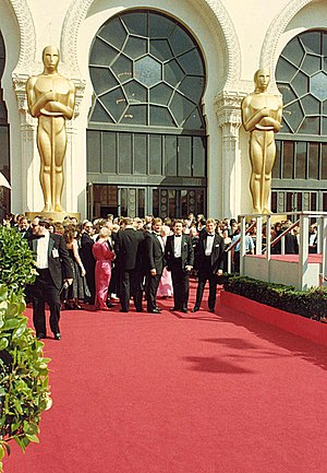 The red carpet at the Academy Awards
