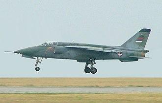 Soko J-22 Orao - A Serbian Air Force J-22 Orao landing at Kecskemet