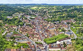An aerial view of Sarlat-la-Canéda