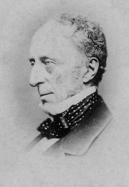 Sir Charles Wood (1800–1885) was President of the Board of Control of the East India Company from 1852 to 1855; he shaped British education policy in India, and was Secretary of State for India 1859–66.