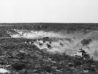 Australian armoured units of World War II - The 2/10th Armoured Regiment during a training exercise in Western Australia in 1943 (AWM 043801)