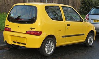 2002 Fiat Seicento Sporting 1.1 Rear.jpg