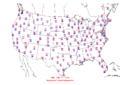 2006-06-12 Max-min Temperature Map NOAA.png