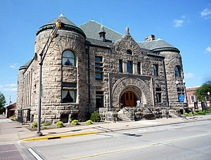 Menomonie, Wisconsin - The Mabel Tainter Center for the Arts originally named The Mabel Tainter Memorial Building.