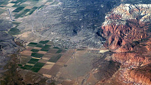 Bicknell, Utah - Aerial photograph of Bicknell
