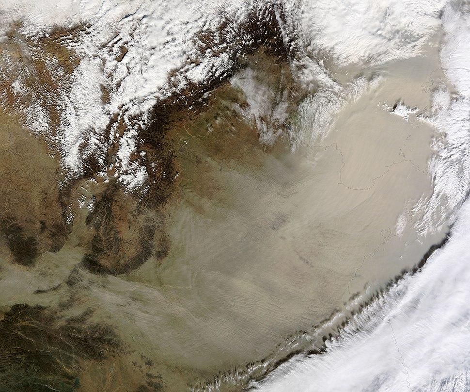 2010 Sandstorm over Eastern China