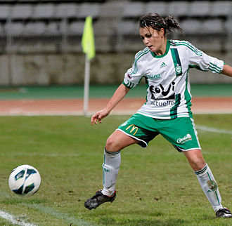 AS Saint-Étienne (women) - A player during PSG-Saint-Étienne (season 2012–2013).