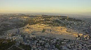 Mount of Olives Mountain in Jerusalem that is mentioned several times in the Bible