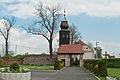 2014 Kamienica, kościół św. Jerzego, mur 01.JPG