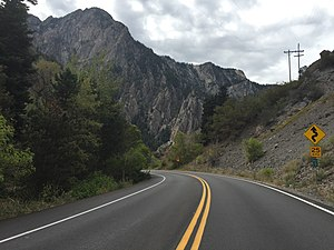 Utah State Route 190 - Westbound SR-190 through Big Cottonwood Canyon