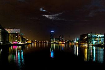 20150307 Blick von der Oberbaumbrücke bei Nacht by sebaso.jpg