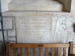 Lightning strike - Memorial to a lightning victim in 1787 in London in a window