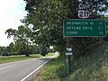 2016-09-06 14 32 22 View west along U.S. Route 211 (Lee Highway) at Virginia State Route 229 (Rixeyville Road) in northern Culpeper County, Virginia.jpg