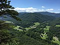 2017-08-09 14 14 20 View west from the viewing platform near the top of Seneca Rocks in Seneca Rocks, Pendleton County, West Virginia.jpg