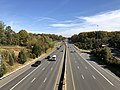 2018-10-31 13 34 22 View east along U.S. Route 50 (Arlington Boulevard) from the overpass for Virginia State Route 6928 (Fairview Park Drive) along the border of Annandale and West Falls Church in Fairfax County, Virginia.jpg