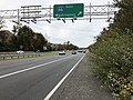 2018-11-01 13 01 20 View west along U.S. Route 50 (Lee Jackson Memorial Highway) at the exit for Interstate 66 EAST (Washington) in Fair Oaks, Fairfax County, Virginia.jpg