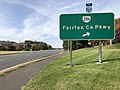 2018-11-01 13 51 57 View west along U.S. Route 50 (Lee Jackson Memorial Highway) at the exit for Virginia State Route 286 (Fairfax County Parkway) in Fair Oaks, Fairfax County, Virginia.jpg