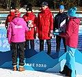 2020-01-15 Biathlon at the 2020 Winter Youth Olympics – Mixed Relay – Mascot Ceremony (Martin Rulsch) 29.jpg