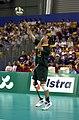 241000 - Standing volleyball Grant Prest serves - 3b - 2000 Sydney match photo.jpg
