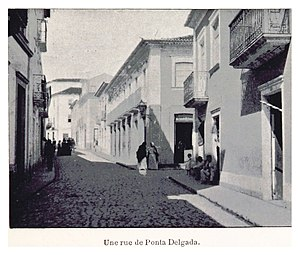 Ponta Delgada - One of the many streets seen in 1899