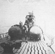 2 kaiten atop C2 submarine