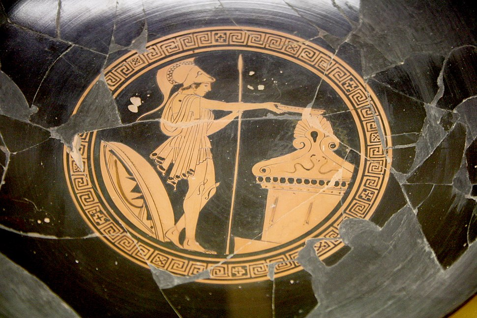 3217 - Athens - Sto%E2%80%A6 of Attalus Museum - Kylix - Photo by Giovanni Dall%27Orto, Nov 9 2009