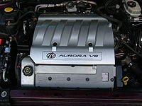 northstar engine series an l47 inside an aurora s engine bay