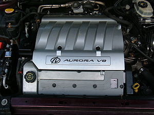 Northstar engine series - An L47 inside an Aurora's engine bay