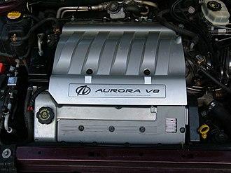 Northstar engine series - An L47 inside an Aurora's engine bay