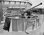 40 mm Bofors gun aboard USS Valor (MSO-472) in 1954.jpg