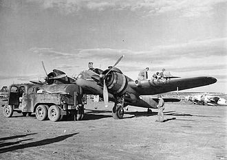 414th Combat Training Squadron - 414th Night Fighter Squadron Bristol Beaufighter at a base in Tunisia, 1943