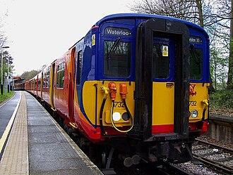 Chessington branch line - Class 455 at Chessington South
