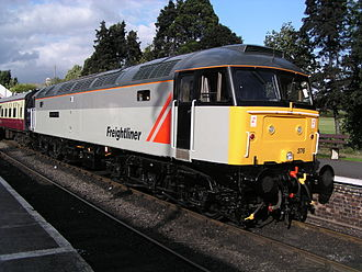 British Rail Class 47 - Class 47/3 47376 in Freightliner livery, at Toddington station