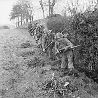 61st Infantry Division (United Kingdom) - Men of the 4th Battalion, Northamptonshire Regiment training in Omagh, Northern Ireland, 5 February 1942