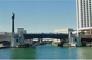 Brickell Avenue Bridge - Brickell Avenue Bridge in 1995