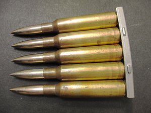 6.5×55mm - Swedish 6.5×55mm skarp patron m/94 med projektil m/41 prickskytte/Cartridge, ball, sniper m/41 ammunition.