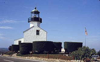 Old Point Loma Lighthouse - The lighthouse in August, 1962