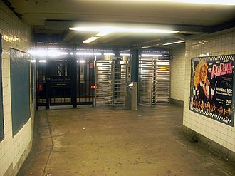 63rd Drive–Rego Park (IND Queens Boulevard Line) - High Enter/Exit Turnstile