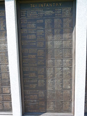 74th Pennsylvania Infantry - 74th PA Infantry tablet at Gettysburg, PA