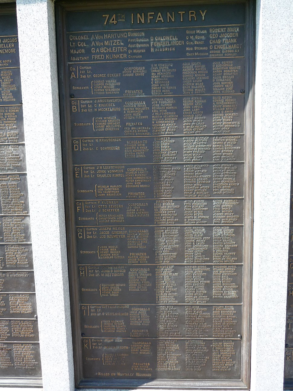 74th PA Infantry Tablet