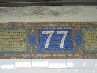 77th Street (IRT Lexington Avenue Line) - Mosaic